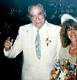 Photo of Charles Bukowski at his wedding