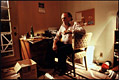 Photo of Charles Bukowski in his office, 1982
